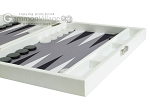 picture of Hector Saxe Leatherette Travel Backgammon Set - White (6 of 12)