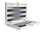 picture of Hector Saxe Leatherette Travel Backgammon Set - White (11 of 12)