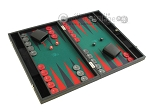 picture of Hector Saxe Faux Leather Backgammon Set - Medium - Green Field (2 of 12)