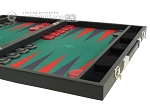 picture of Hector Saxe Faux Leather Backgammon Set - Medium - Green Field (6 of 12)