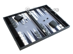 picture of Hector Saxe Faux Leather Backgammon Set - Medium - Grey Field (2 of 12)