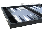 picture of Hector Saxe Faux Leather Backgammon Set - Medium - Grey Field (5 of 12)