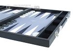 picture of Hector Saxe Faux Leather Backgammon Set - Medium - Grey Field (6 of 12)