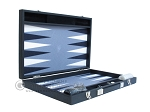 picture of Hector Saxe Faux Leather Backgammon Set - Medium - Grey Field (10 of 12)