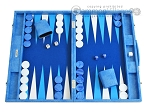 Hector Saxe Faux Snake Backgammon Set - Medium - Light Blue - Item: 2497