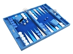 picture of Hector Saxe Faux Snake Backgammon Set - Medium - Light Blue (2 of 12)