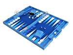 picture of Hector Saxe Faux Snake Backgammon Set - Medium - Light Blue (3 of 12)