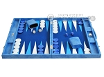 picture of Hector Saxe Faux Snake Backgammon Set - Medium - Light Blue (4 of 12)