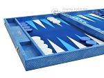 picture of Hector Saxe Faux Snake Backgammon Set - Medium - Light Blue (5 of 12)