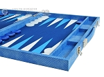 picture of Hector Saxe Faux Snake Backgammon Set - Medium - Light Blue (6 of 12)