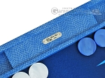picture of Hector Saxe Faux Snake Backgammon Set - Medium - Light Blue (7 of 12)