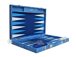 picture of Hector Saxe Faux Snake Backgammon Set - Medium - Light Blue (10 of 12)