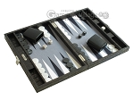 picture of Hector Saxe Faux Croco Travel Backgammon Set - Black (2 of 12)