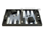 picture of Hector Saxe Faux Croco Travel Backgammon Set - Black (4 of 12)