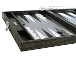picture of Hector Saxe Faux Croco Travel Backgammon Set - Black (5 of 12)