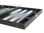 picture of Hector Saxe Faux Croco Travel Backgammon Set - Black (6 of 12)