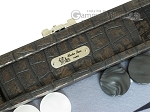 picture of Hector Saxe Faux Croco Travel Backgammon Set - Black (7 of 12)