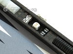 picture of Hector Saxe Faux Croco Travel Backgammon Set - Black (9 of 12)