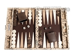picture of Hector Saxe Python Leather Travel Backgammon Set - Beige (1 of 12)
