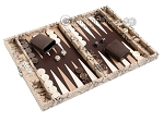 picture of Hector Saxe Python Leather Travel Backgammon Set - Beige (2 of 12)