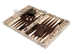 picture of Hector Saxe Python Leather Travel Backgammon Set - Beige (3 of 12)