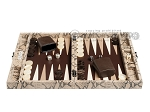 picture of Hector Saxe Python Leather Travel Backgammon Set - Beige (4 of 12)