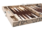 picture of Hector Saxe Python Leather Travel Backgammon Set - Beige (5 of 12)