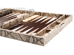 picture of Hector Saxe Python Leather Travel Backgammon Set - Beige (6 of 12)