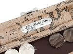 picture of Hector Saxe Python Leather Travel Backgammon Set - Beige (7 of 12)