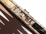 picture of Hector Saxe Python Leather Travel Backgammon Set - Beige (9 of 12)
