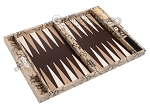 picture of Hector Saxe Python Leather Travel Backgammon Set - Beige (10 of 12)