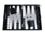 picture of Hector Saxe Python Leather Travel Backgammon Set - Black (1 of 12)