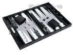 picture of Hector Saxe Python Leather Travel Backgammon Set - Black (2 of 12)