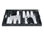 picture of Hector Saxe Python Leather Travel Backgammon Set - Black (4 of 12)