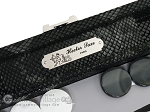 picture of Hector Saxe Python Leather Travel Backgammon Set - Black (7 of 12)