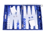 picture of Hector Saxe Python Leather Travel Backgammon Set - Blue (1 of 12)
