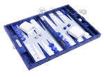 picture of Hector Saxe Python Leather Travel Backgammon Set - Blue (2 of 12)