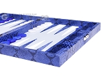 picture of Hector Saxe Python Leather Travel Backgammon Set - Blue (6 of 12)