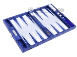 picture of Hector Saxe Python Leather Travel Backgammon Set - Blue (10 of 12)