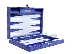 picture of Hector Saxe Python Leather Travel Backgammon Set - Blue (11 of 12)