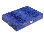 Hector Saxe Python Leather Travel Backgammon Set - Blue - Item: 2754