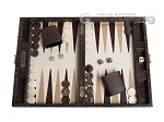 picture of Hector Saxe Python Leather Travel Backgammon Set - Brown (1 of 12)