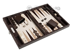 picture of Hector Saxe Python Leather Travel Backgammon Set - Brown (2 of 12)