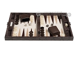 picture of Hector Saxe Python Leather Travel Backgammon Set - Brown (4 of 12)