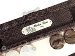 picture of Hector Saxe Python Leather Travel Backgammon Set - Brown (7 of 12)