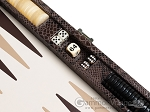 picture of Hector Saxe Python Leather Travel Backgammon Set - Brown (9 of 12)