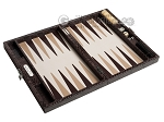 picture of Hector Saxe Python Leather Travel Backgammon Set - Brown (10 of 12)