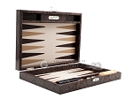 picture of Hector Saxe Python Leather Travel Backgammon Set - Brown (11 of 12)