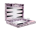 picture of Hector Saxe Python Leather Travel Backgammon Set - Parma (11 of 12)