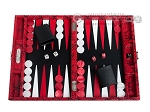 picture of Hector Saxe Python Leather Travel Backgammon Set - Red (1 of 12)